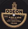 78 Tours - ODEON 165.969 - BACH & HENRY-LAVERNE Scènes Comiques - UN DEBUT AU THEATRE - L'EMBOUTEILLAGE - 78 Rpm - Schellackplatten