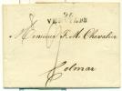 Belgique - Préphilatélie De Verviers Vers Colmar Du 15/04/1806, See Scan - 1794-1814 (Französische Besatzung)