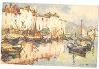 MARTIGUES Carte D'artiste (acquerelle) 1935 - Martigues