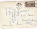 $3-2131- Risorgimento Lire 8 Isolato Su Cartolina Illustrata 16/03/1949 - 6. 1946-.. Repubblica
