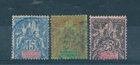 France Colonie  Timbres  De Madagascar N°33 A 35  Oblitéré Tres Beau - Madagascar (1889-1960)