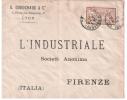 ENVELOPPE 1905 POUR L'ITALIE AFFRANCHIE AVEC UN TIMBRE A 50 CT TYPE MERSON - 1877-1920: Semi-moderne Periode