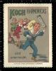 Old Original German Poster Stamp (cinderella,reklamemarke) KOCH - Music,Mundharmonika, Mouth Organ, Harmonica, Accordion - Musik