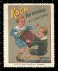 Old Original German Poster Stamp (cinderella,reklamemarke) KOCH - Music, Harmonica, Accordion, Harmonika - Musique