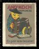 Old Original German Poster Stamp (cinderella,reklamemarke) KOCH - Music,Mundharmonika, Mouth Organ, Harmonica, Accordion - Musique
