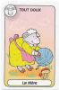 1 Carte De Jeu /  Humour Mouton Et Pelote De Laine / Champignon Ball Of Wood Sheep Animal Humor  // IM 67/2 - Old Paper