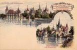 AK UNGARN HUNGARY BUDAPEST LITHO KARTE OLD POSTCARD VOR 1904 - Ungarn