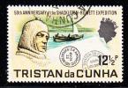 Tristan Da Cunha Used Scott #156 12 1/2p Skackleton, Boat - 50th Anniversary Of Shackleton-Rowett Expedition - Tristan Da Cunha