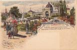 AK UNGARN HUNGARY BUDAPEST EXPOSITION PALAIS DEL'INDUSTRIE ET CORSO LITHO KARTE OLD POSTCARD VOR 1904 - Ungarn