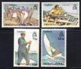 Tristan Da Cunha MNH Scott #174-#177 Longboats - Tristan Da Cunha