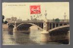 Carte  De Saint Denis  Pont De île ( Carte Toilée Et Colorisée ) ( Recto Verso ) - Saint Denis