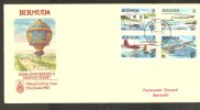 Bermuda 1983 Manned Flight Anniversary Set 4 On Official FDC - Bermuda