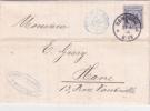 1895 Allemagne Reichpost 20pf Seul Sur Lettre > LE HAVRE France Obl Hamburg + Paris Etranger - Alemania