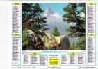 """Almanach Des PTT 1985  """"Zermatt (Suisse) / Féerie Blanche Dans Les Alpes"""" Valais, Montagne, église, Chalet JEAN LAVIGNE - Big : 1981-90"""