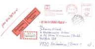 GERMANY. METER SLOGAN. PHILIPP HOLZMANN. FRANKFURT 1981. CONSTRUCTION COMPANY - Sellos