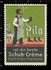 Old Original German Poster Stamp( Cinderella, Reklamemarke ) Pilo - Chemical Products, Scorpion, Shoes, Boots, Stiefel - Cinderellas