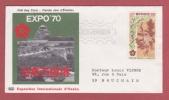Cachet  MONTE-CARLO 1967  Pte DE -MONACO JOUR D'ÉMISSION  Exposition Internationale D'Osaka - Monaco