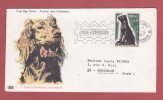 """Cachet MONTE-CARLO Pte DE MONACO JOUR D'ÉMISSION 1967 Congrès Cynologique International """"Chien"""" - Monaco"""