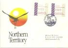 AUSTRALIE. Envel. Affr. Frama, Emission De Darwin (1 Ere Emission 1985) .  Poste GPO De Darwin  NT - ATM - Frama (vignette)