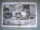 GRAVURE 1877. L'ANCIEN HOTEL-DIEU DE PARIS. EXPLICATIF AU DOS. - Oude Documenten