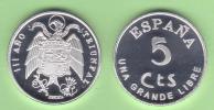 VERY  RARE!!!!  SPAIN/ESPAÑA / Estado Español 5 Céntimos 1.937 Zinc SC T-DL-10.090 Bel. - [ 5] 1949-… : Reino