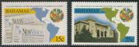 "Bahamas 1998 Mi 958 /9 ** OAS Magazine ""New Vision"" + OAS Headquarters Building, Washington - Bahama's (1973-...)"