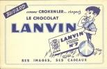 """BUVARD """"LANVIN""""  Comme Crokenler ...croquez Le Chocolat LANVIN - Cocoa & Chocolat"""