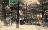 CPA   75  PARIS---20e---PLACE GAMBETTA---LE METROPOLITAIN---ENTREE  GAMBETTA---TRES ANIMEE---TRES RARE ?---TACHEE---1908 - Metro, Estaciones