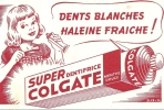 "BUVARD ""COLGATE"" Dents Blanches, Haleine Fraiche ! - Parfums & Beauté"