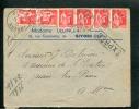 =*= Paix 283x6 Sur Lettre Tarif Exprès Givors>>>>Juan-les-Pins 12 2 1936 =*= - France