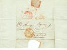 Espana 1844 Frontal Reus A Barna Tipo Baeza - ...-1850 Vorphilatelie