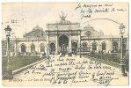 Bruxelles Gare Du Midi Avec Tram (Publicité Sunlight Savon) Et Chariots Animée 1906 - Transport Urbain En Surface