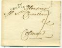 Belgique - Préphilatélie De Dison (96 Verviers) Vers Colmar Du 22/08/1811, See Scan - 1794-1814 (Französische Besatzung)