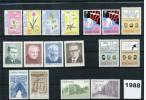 Faroer Inseln / Faroe Islands 1988 Kompletten Jahrgang Postfrisch / Complete Year Collection Unmounted Mint - Féroé (Iles)