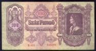 Ungheria - 100 Pengo 1930 - Hongrie