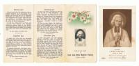 Curé D'Ars    Un Image Et Un Dépliant  3 Volet - Images Religieuses