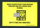 KUWAIT  -  Gulf War POW Publicity Postcard Unused As Scan - Kuwait