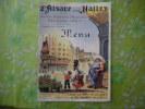 MENU GRANDE BRASSERIE ALSACIENNE 16 RUE COQUILLIERE PARIS (1er) L'ALSACE AUX HALLES - Menu