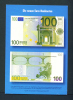 GERMANY  -  Introducing The Euro/Publicity Postcard/100 Euro  Unused As Scans - Coins (pictures)