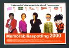 UK  -  Memorabiliaspotting 2000 Collector Fair Publicity Postcard/Unused As Scans (Staple Holes Top Left Corner) - Bourses & Salons De Collections