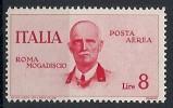 1934 REGNO POSTA AEREA ROMA MOGADISCIO 8 LIRE MNH ** - RR10631 - 1900-44 Vittorio Emanuele III