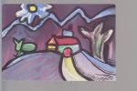 Cpsm ,  Paysage , Peintures Libres D'enfants , Non  Voyagé - Pittura & Quadri
