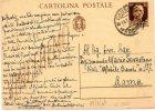 1943 CARTOLINA CON ANNULLO CASSINO - Postwaardestukken