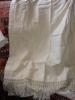 Art Populaire Savoie Ancienne Piece De Tissu Avec Franges - Bed Sheets