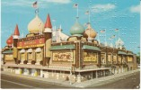 Braille Message Blind Language Writing Pressed Into Postcard, Mitchell SD Corn Palace View, C1960s/70s Vintage Postcard - Other