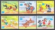 Grenada 1375-80   **  DISNEY  SPORTS  BASEBALL - Grenada (1974-...)