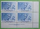 Briefmarken Kanada Canada 1956 Zusammendruck Mit Eckrand Sehr Selten. - Blocks & Kleinbögen
