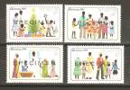 Saint Kitts 1984 Xmas Set 4 MNH Overprint Specimen - St.Kitts And Nevis ( 1983-...)
