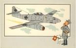 TINTIN Et L´Aviation De La  Guerre 1939-45 -Messerschitt Me 162 -1942 -Allemagne - Casterman 1954 - Hergé