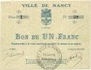 VILLE DE NANCY  1 FR - Bons & Nécessité